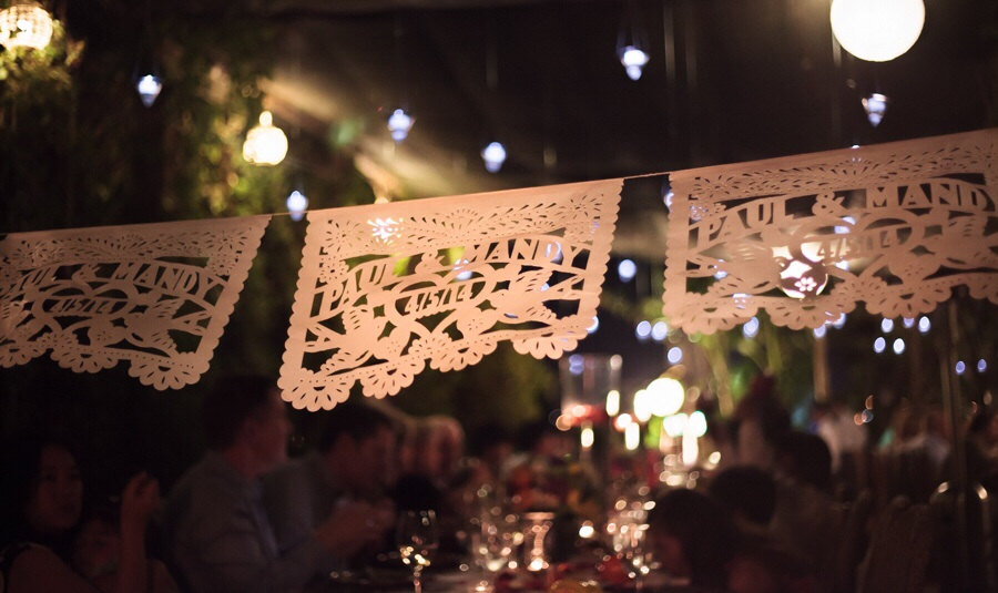 paper garland wedding