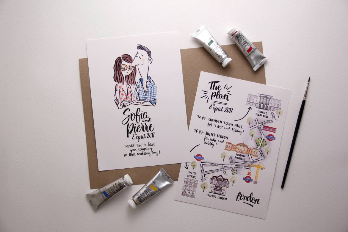 75 fun unique wedding invitations for cool couples emmaline bride unique wedding invitations stopboris Gallery