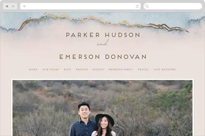 need a wedding website