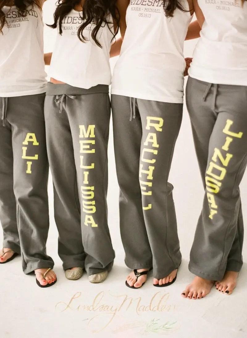 custom sweatpants for bridesmaids