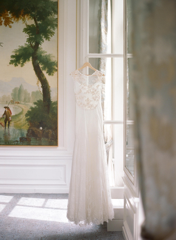 illusion tulle wedding dress