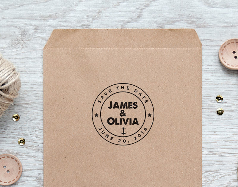 wedding favor stamp