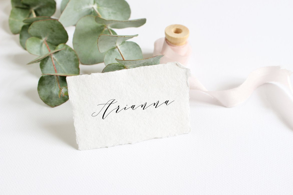 torn edge place cards