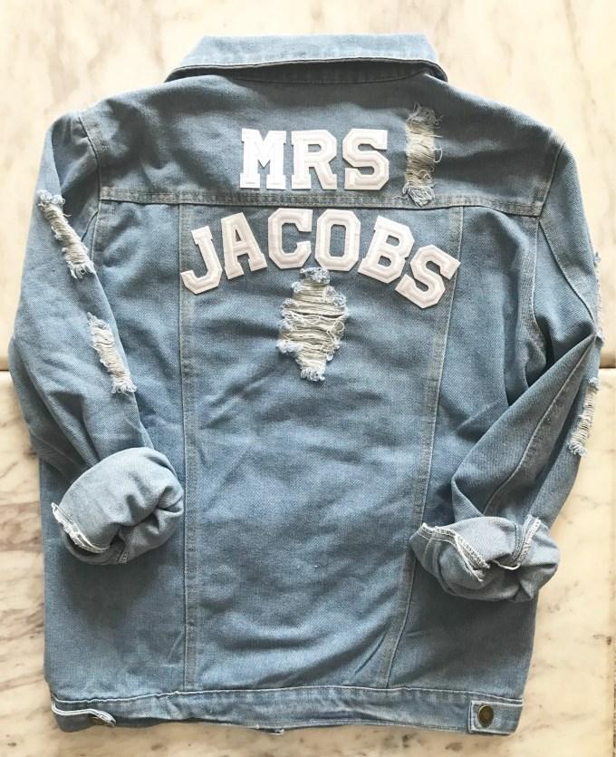 personalized mrs denim jacket via https://etsy.me/2t16nYq