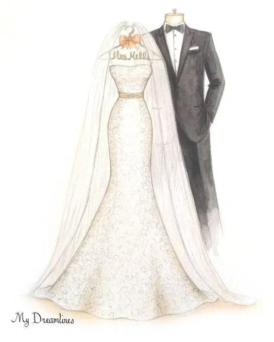 Wedding Dress Drawing / Sketch? | Emmaline Bride