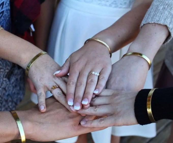 bride tribe cuff bracelet