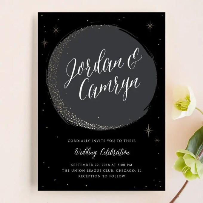 evening wedding invitations
