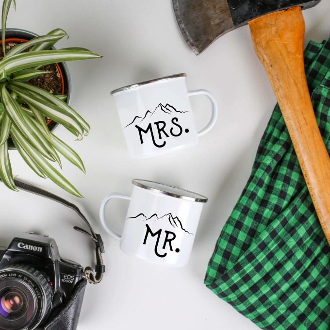 mr and mrs camp mugs