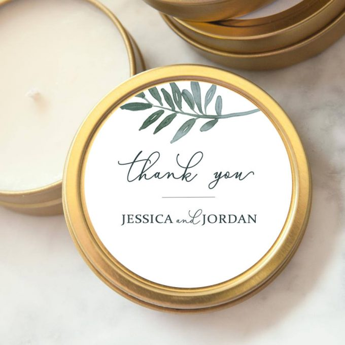 custom candles for wedding favors