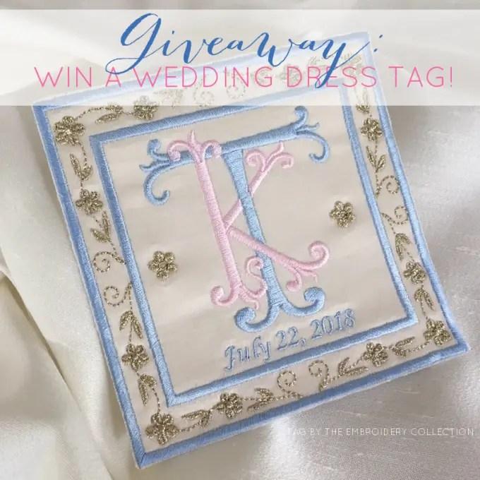 wedding dress tag giveaway