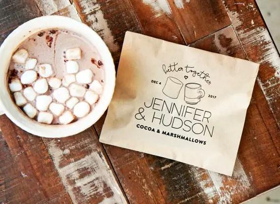 cocoa favor - wedding favors ideas