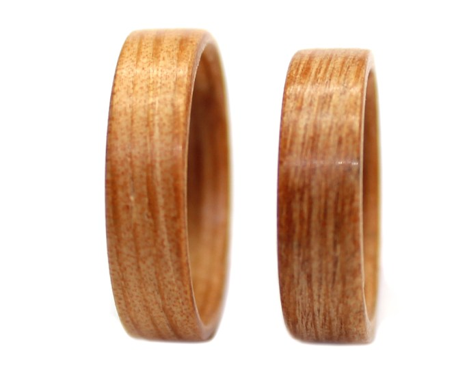 wooden rings