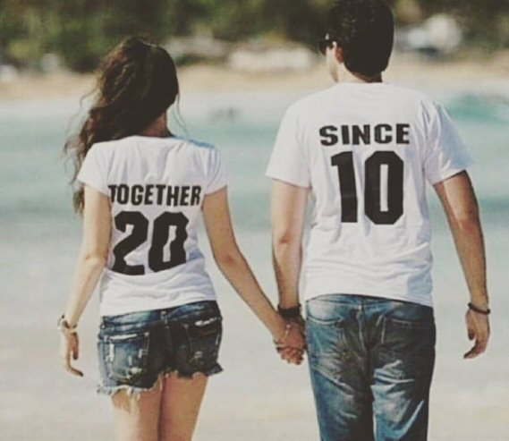 together since matching couples shirts