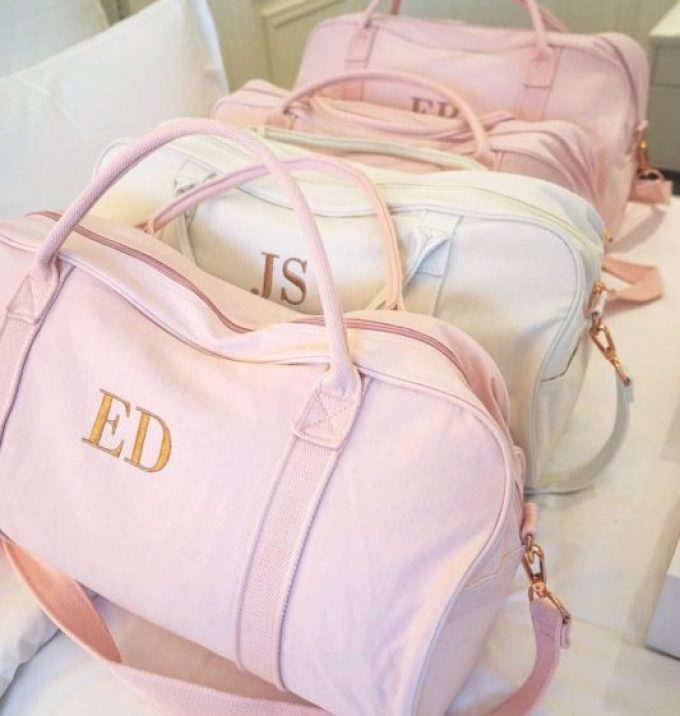 bridesmaid duffle bags