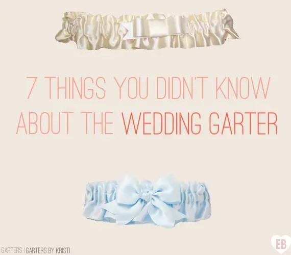 7 (Surprising!) Things You Didn't Know about the Wedding Garter (garters by Garters by Kristi, feature via EmmalineBride.com) #handmade #garter #bride #wedding