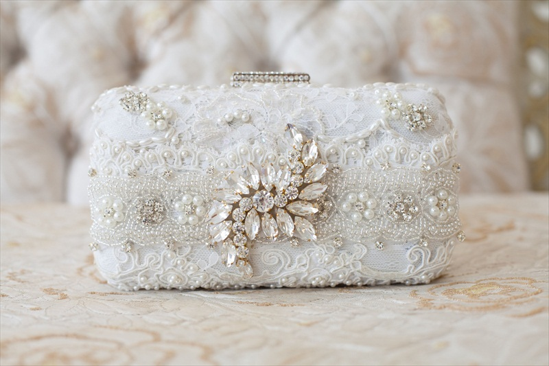 Bridal Clutch Purse by Cloe Noel - Photo by La Candella Weddings
