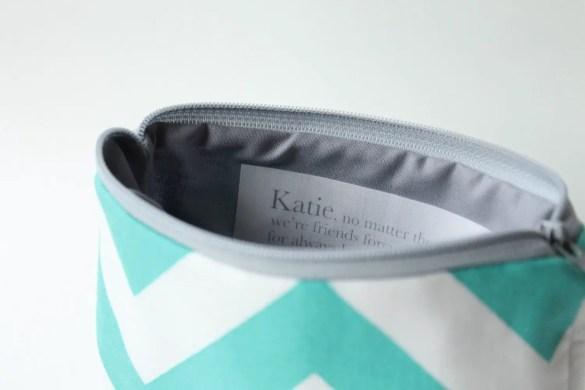 Bridesmaid bags messages inside | by Allisa Jacobs | Emmaline Bride, The Handmade Wedding Blog EmmalineBride.com