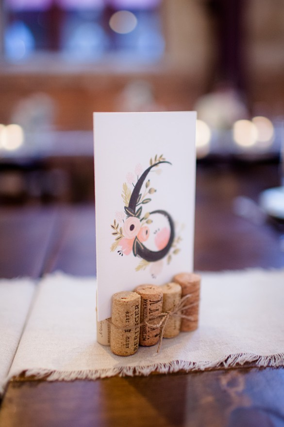 Table Number | Real Weddings Brooklyn Arts Center | Photo: Eric Boneske