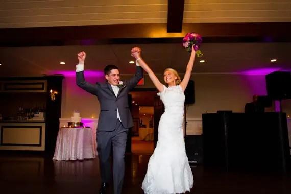 Wedding of Caitlin & Ben at The Villa - bride and groom reception entrance