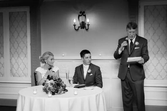 Wedding of Caitlin & Ben at The Villa - father's wedding speech