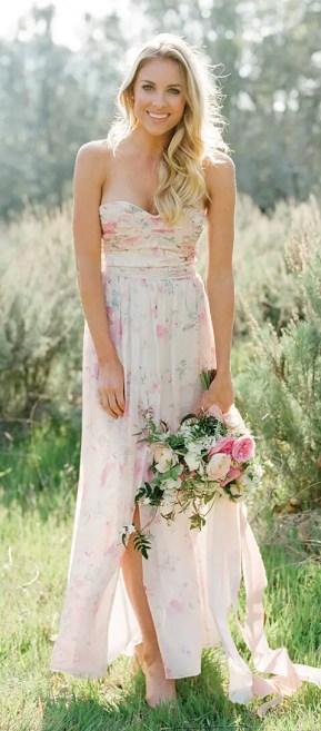 Charlie | Floral Print Bridesmaid Dress