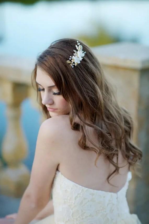 beautiful bridal hair clip | 8 Alternative Wedding Veil Ideas from Tessa Kim