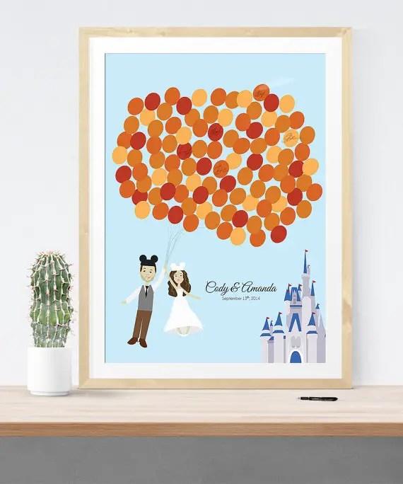 Disney Themed Wedding Guest Book Alternative Print | 21 Unique Themed Guest Book Alternatives via http://emmalinebride.com/reception/themed-guest-book-alternatives/
