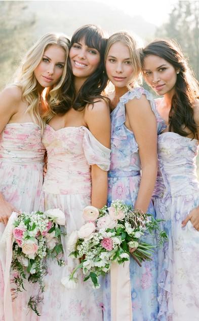 Floral Print Bridesmaid Dresses Collection