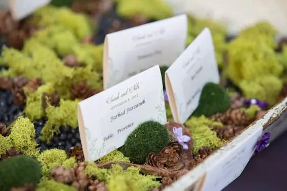 Johnstone Studios - lake tahoe wedding - moss wedding table cards