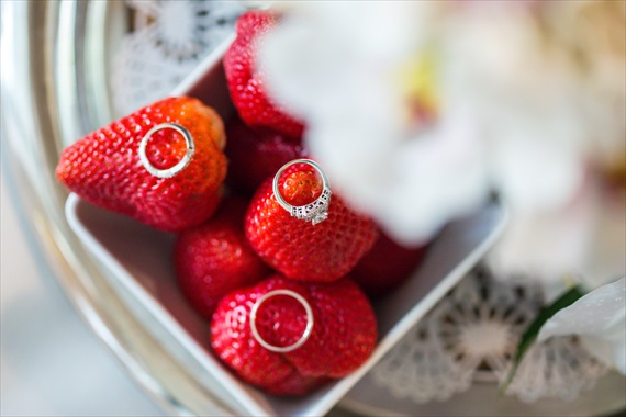 Filda Konec Photography - Hemingway House Wedding - wedding rings photo with strawberries