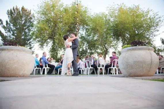 rustic chic DIY arizona wedding at Shenandoah Mill bride and groom dance