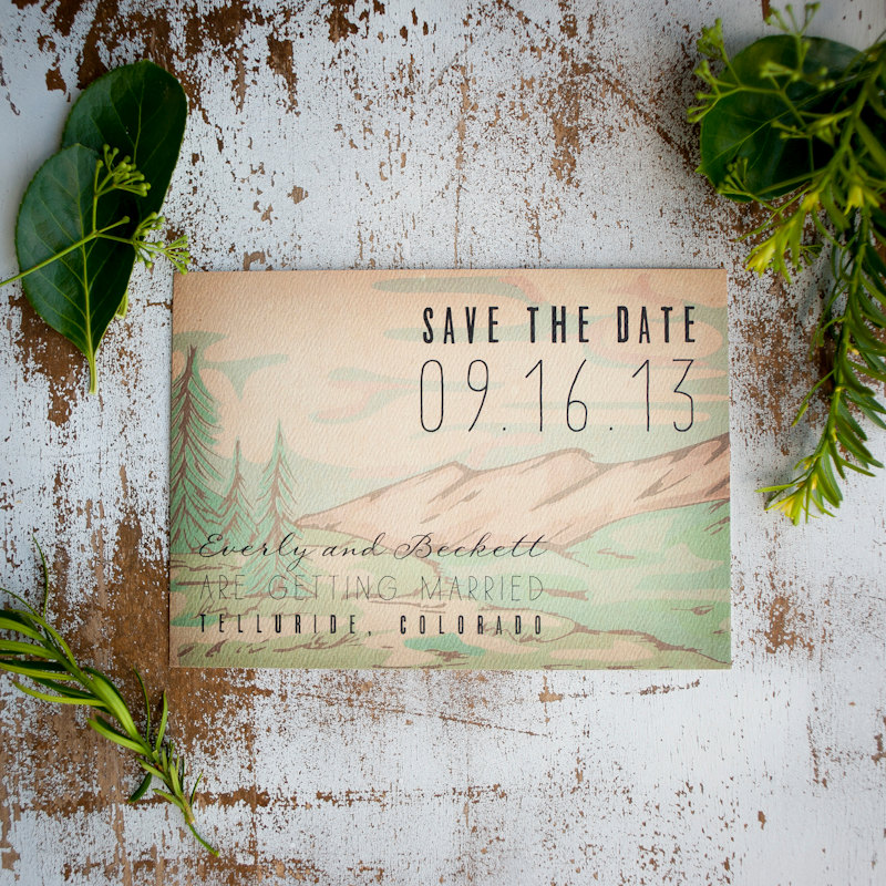 Rustic | Save the Date Postcards