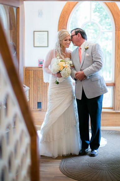 The Bride and Her Father - Bald Head Island Wedding - Photo by Eric Boneske