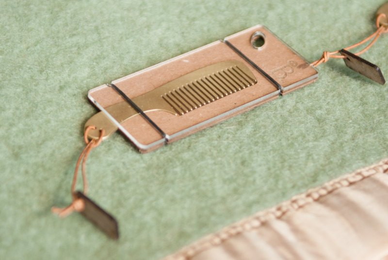 The Doyle Groomsmen Beard Comb by Burton and Levy | Handmade Beard Comb via http://emmalinebride.com/groomsmen/handmade-beard-comb/