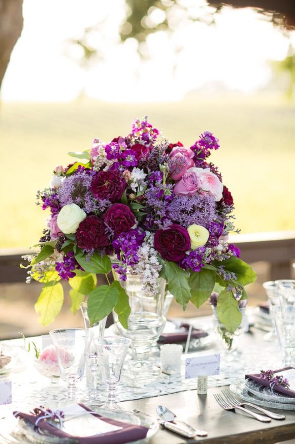 Winery Styled Wedding Shoot - Gorgeous Floral Centerpiece