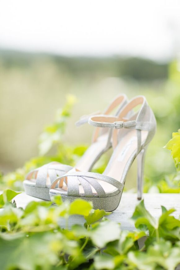 Winery Styled Wedding Shoot - The Bride's shimmery heels