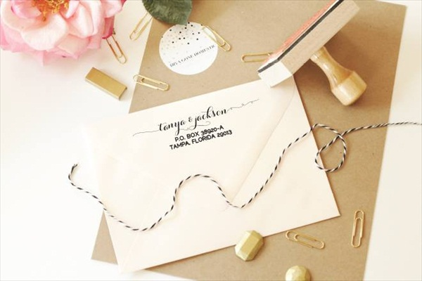 Wedding Invite Stamp: Custom Rubber Stamp For Wedding Invitations