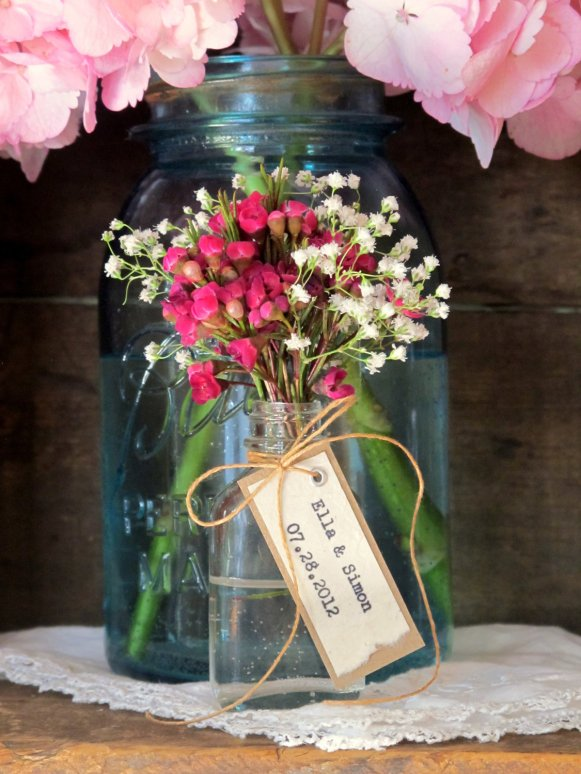 wedding favors flowers flower vase favors for place cards favors decor in one 9455
