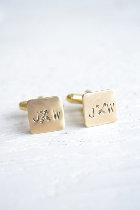 arrow wedding cufflinks