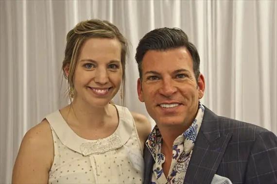 Emma Arendoski (EmmalineBride.com) and David Tutera (DavidTutera.com) at Bridal Extravaganza of Atlanta 2013