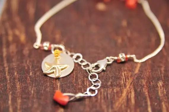 back of coral bracelet via beach wedding jewelry ideas