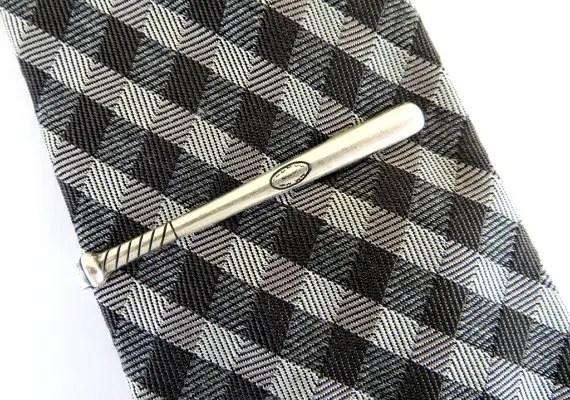 baseball bat tie bar by ManKindbyBella