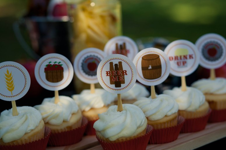 beer themed cupcake toppers by bella grey designs