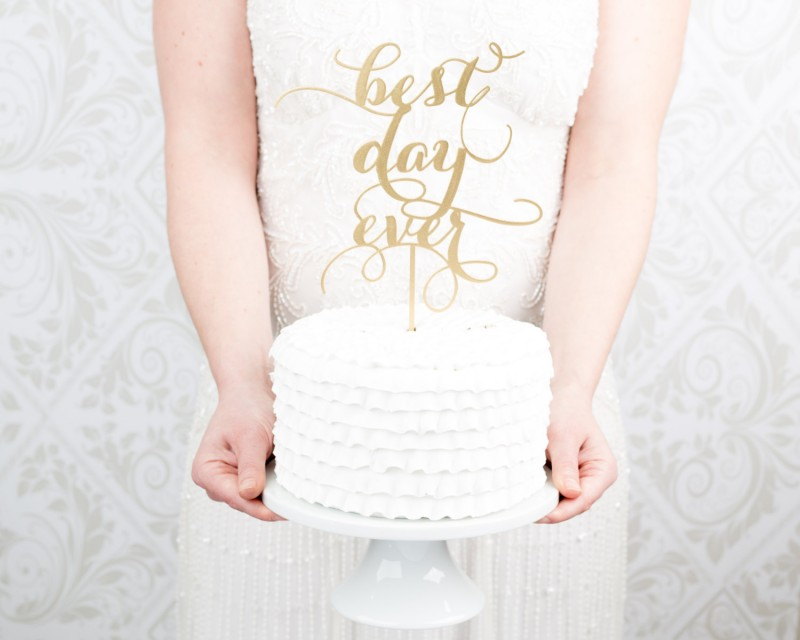 best day ever   cake toppers via http://emmalinebride.com/decor/statement-cake-toppers/