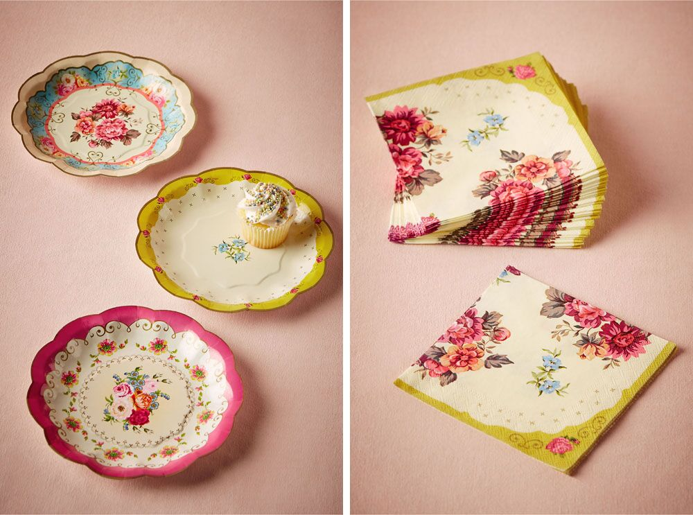 In love with these vintage inspired paper plates and matching napkins. It\u0027s the look of & 3 BHLDN Decor Ideas That Will Look Beautiful for Weddings