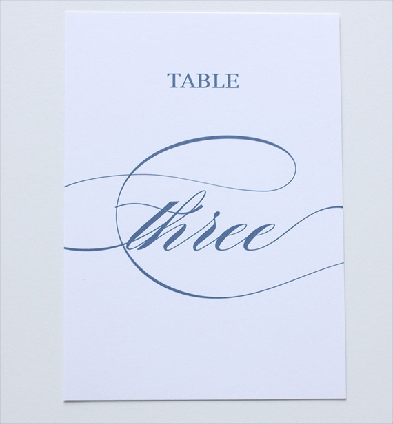 Wedding Stationery Giveaway! (table number: blush paperie)
