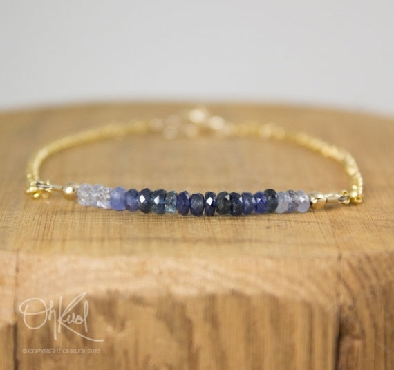 blue sapphire bracelet via 27 Amazing Anniversary Gifts by Year