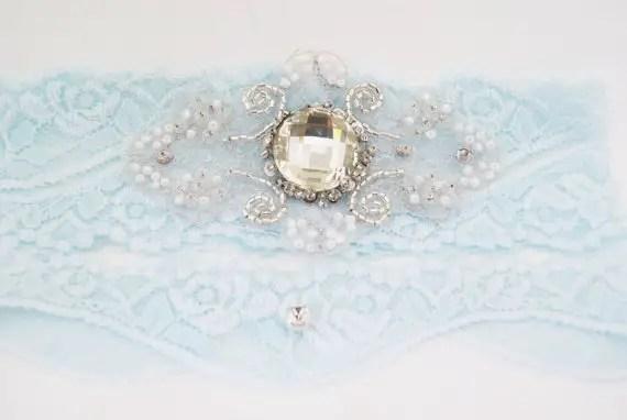 Gift for Bridesmaids - Blue Wedding Garter by Nestina Accessories