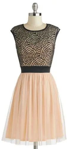 blush-and-black-bridesmaid-dress