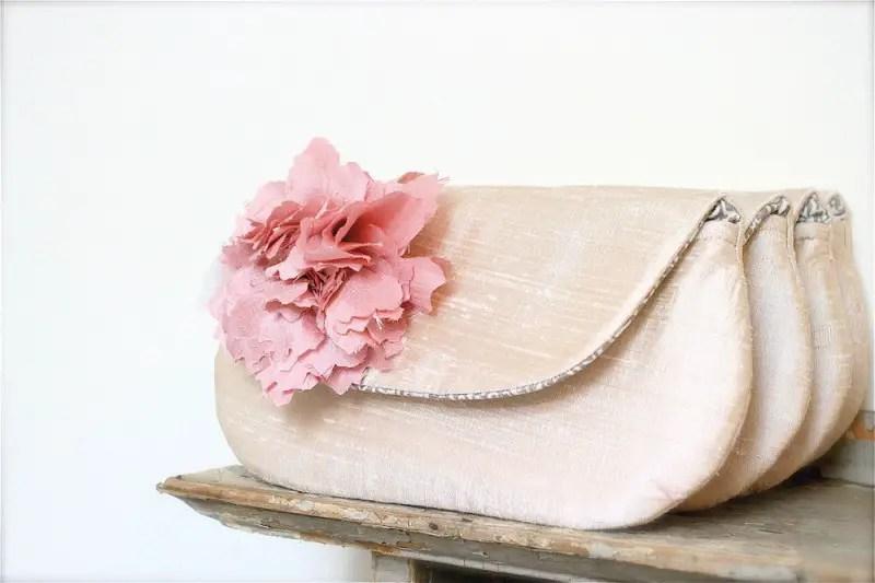 blush pink clutches